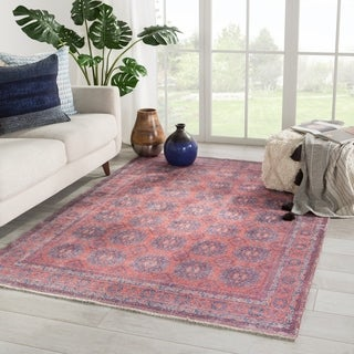 The Curated Nomad Pelton Oriental Blue/ Red Area Rug