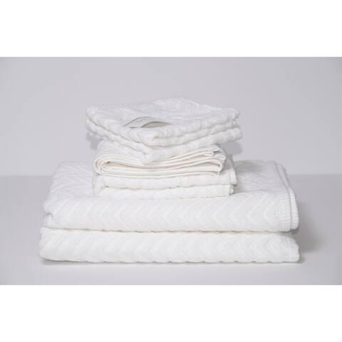 Cancun 6-Piece 100 Cotton Bath Towel Set