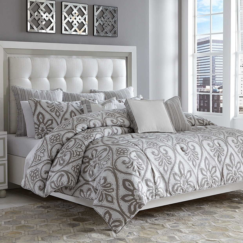Shop Melrose Park 10 Piece Gray King Comforter Set   Overstock