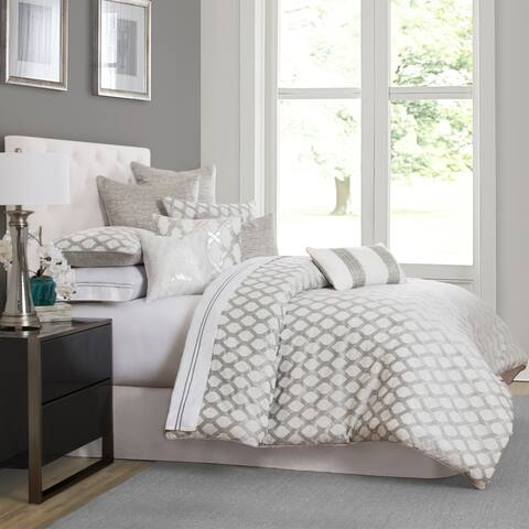 Newport 10-Piece Platinum King Comforter Set