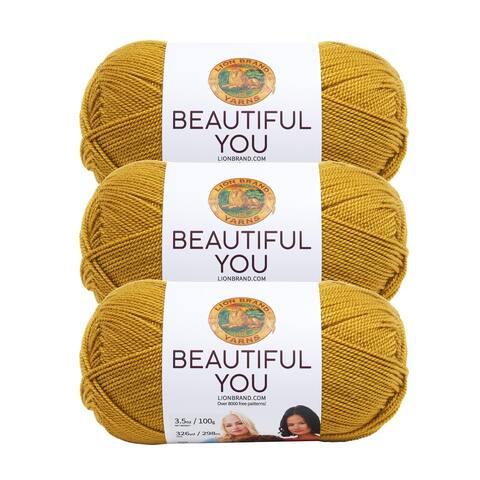 Lion Brand Yarn Beautiful You Arrowwood 165-194 3 Pack Fashion Yarn
