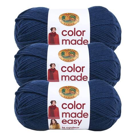 Lion Brand Yarn Color Made Easy Huckleberry 195-110 3 Pack Basic Yarn