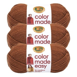Lion Brand Yarn Color Made Easy Kombucha 195-126 3 Pack Basic Yarn