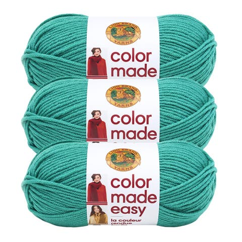 Lion Brand Yarn Color Made Easy Malachite 195-178 3 Pack Basic Yarn