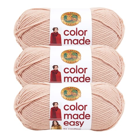 Lion Brand Yarn Color Made Easy Millennial 195-184 3 Pack Basic Yarn