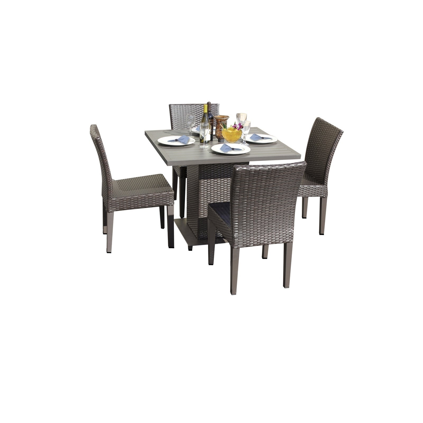 Shop Barbados Square Dining Table With 4 Chairs Overstock 28945302