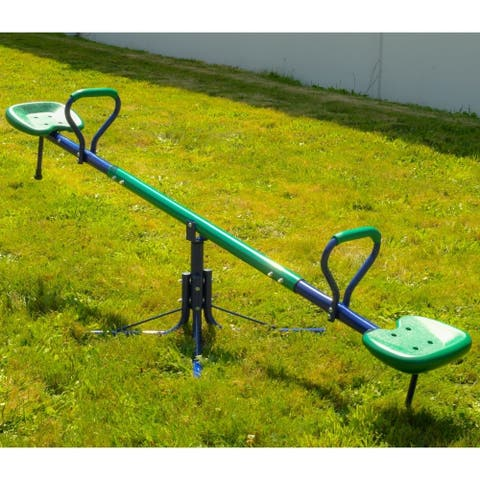 ALEKO Sturdy Child 360-Degree Spinning Seesaw Play Set - Green