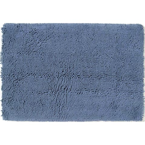 "Chesapeake Anti Fatigue Blue Shag Rug (22""x33"") - 22""x33"""