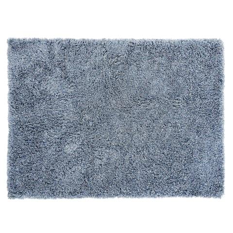"Chesapeake Microfiber Polyester Shag Canilla Area Rug (5'x7') - 60""x84"""
