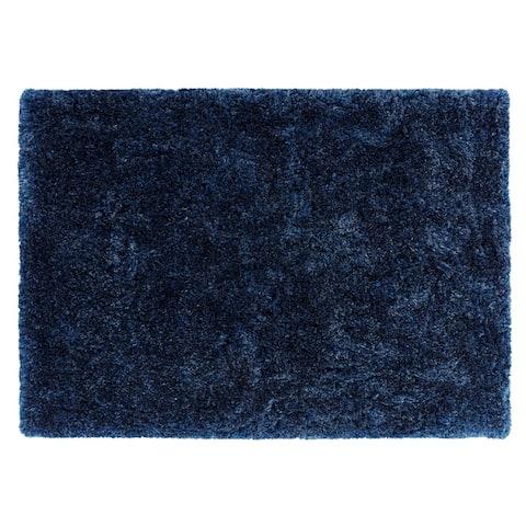"Chesapeake Microfiber Polyester Shag Oreo Area Rug (5'x7') - 60""x84"""