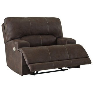 Kitching Contemporary Wide Seat Power Recliner Java
