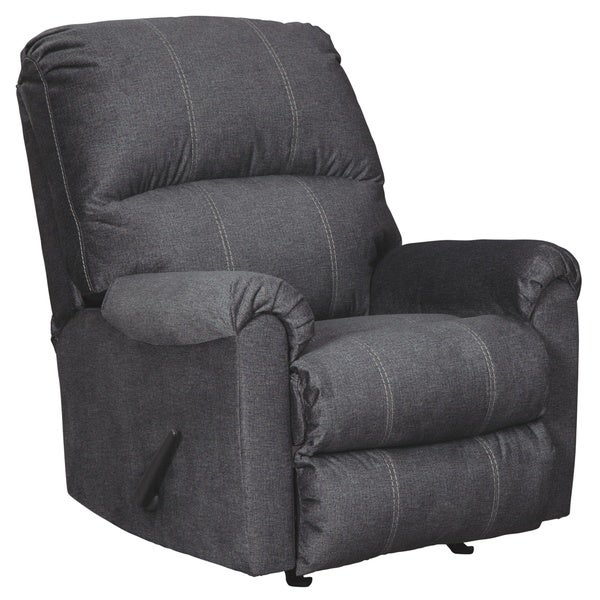 Urbino Contemporary Rocker Recliner Charcoal