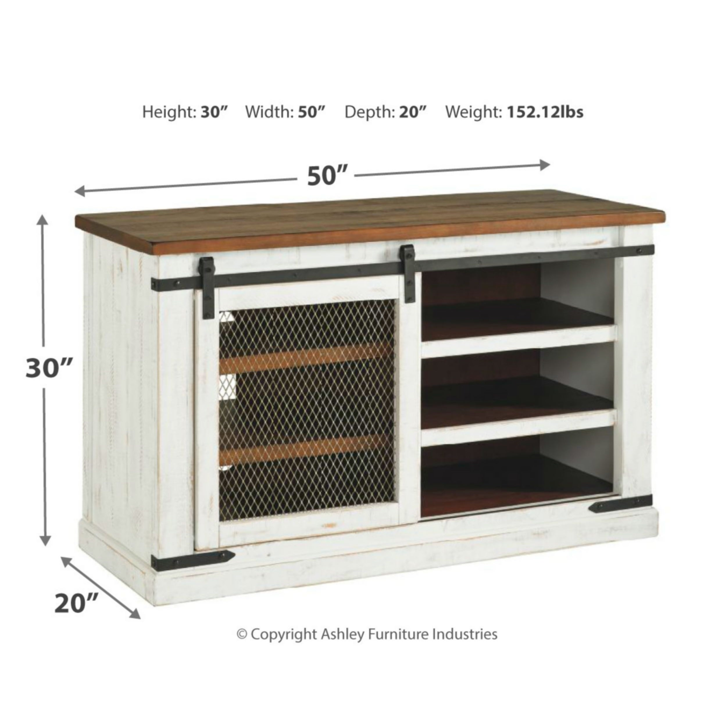 Wystfield Casual Medium Tv Stand White Brown 50 Inches Overstock 28946308