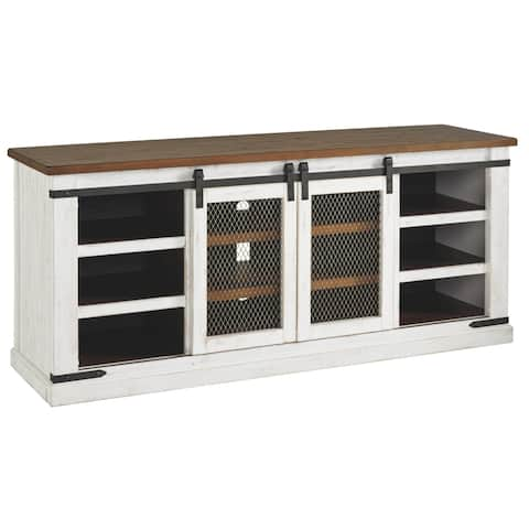Wystfield Casual Extra Large TV Stand White/Brown