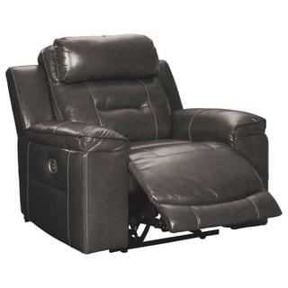 Pomellato Contemporary Power Recliner Adjustable Headrest Gray