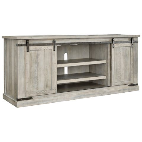 Carynhurst Casual Extra Large TV Stand Whitewash