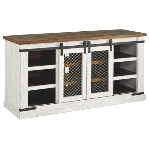Wystfield Casual Large TV Stand White/Brown