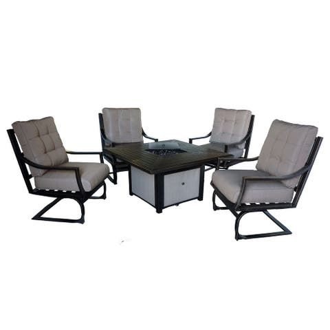 William 5-PC Deep seating Fire pit set