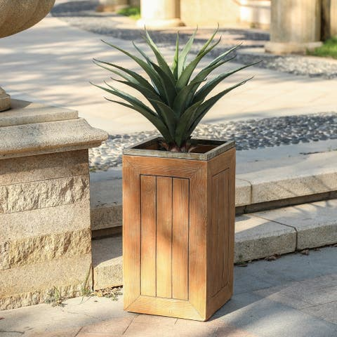 Pichima Square Fiberclay Plank Style Planter by Havenside Home