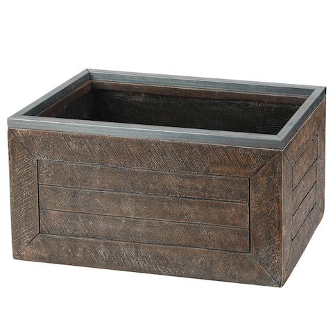 Boulding 24-inch Rectangular Fiberclay Crate-style Planter by Havenside Home