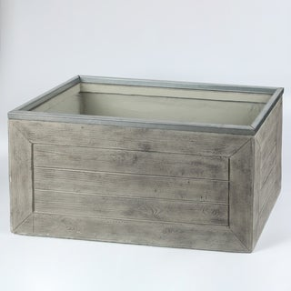 30in.W Rectangular MgO Fiberclay Crate Style Planter