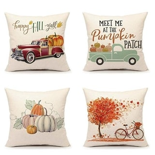 Fall Vintage Pillow Case 18 x 18 (set of 4)