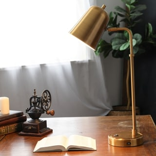Shop Adesso Emerson Desk Lamp With Adessocharge Wireless