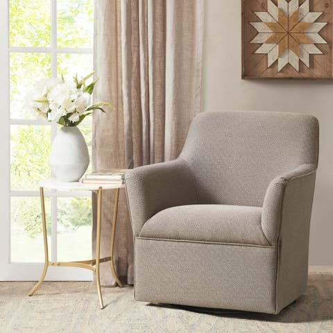 Madison Park Caddy Grey Swivel Glider Chair