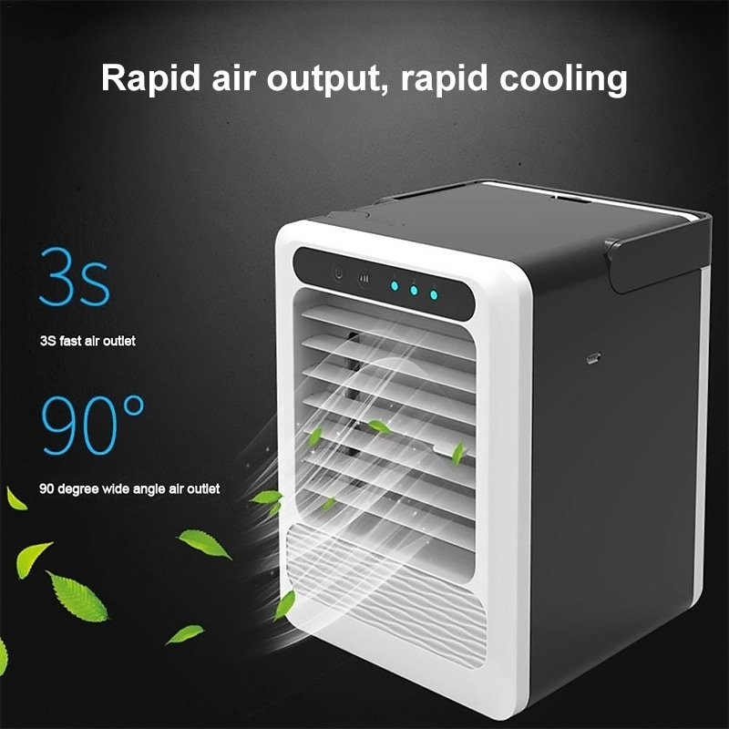 Portable Air Conditioner Personal Air Cooler Table Fan for Home Bedroom Office Without Remote Control Humidifier Purifier /& Evaporative Desktop Cooling Fan 3 in 1 Mini Personal Air Conditioner