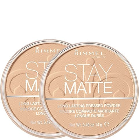 (2 Pack) Rimmel London ,Stay Matte Pressed Powder, Sandstorm 004, 0.49 Oz