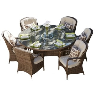 6-Seats Rattan Wicker Table And Chair BY Direct Wicker
