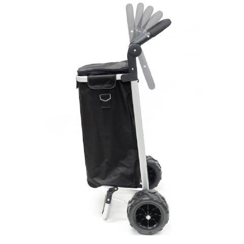 Creative Outdoor EZ Push Folding Sport Trolley, Black