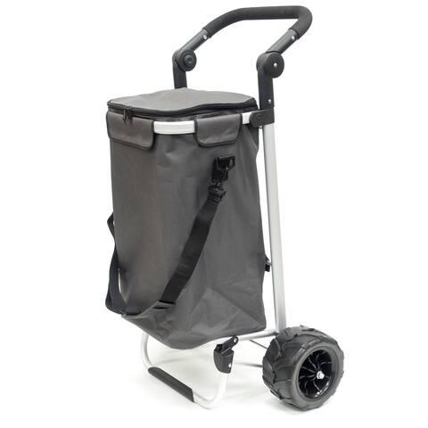 Creative Outdoor EZ Push Folding Sport Trolley, Gray