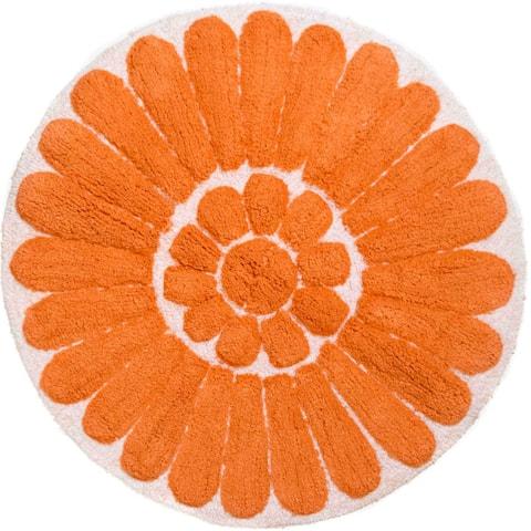 "Chesapeake Bursting flower White/Coral round rug (32"")"