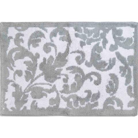 "Chesapeake Basel reversible cotton Chrome bath rug (21""x34"")"