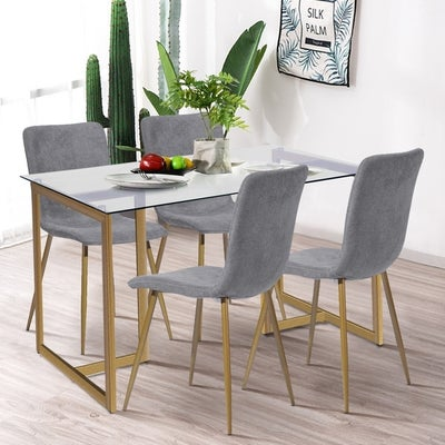 Glass Dining Table Set Online