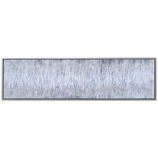 Gray Field Abstract Textured Metallic Hand Painted Wall Art