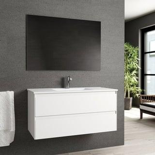 "Eviva Bloom 39"" Matt White Bathroom Vanity"