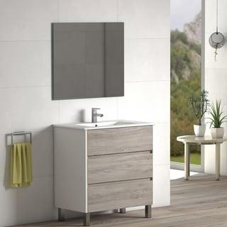 "Eviva Majesty 32""  Pine Grey Vanity with White Sink"
