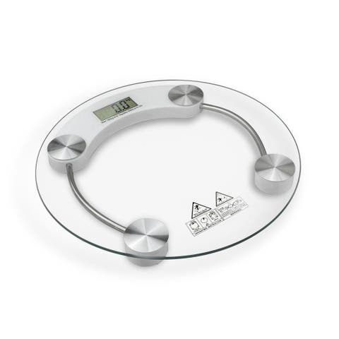 400lb Bathroom Digital Electronic Body Weight Scale with Glass Top