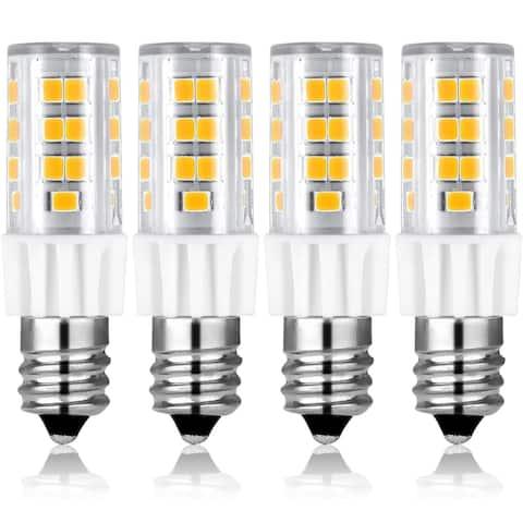 Luxrite Dimmable E12 LED Bulb T4/T3, 40W Equivalent, 500 Lumens, Mini Candelabra LED Bulb, ETL Listed (4 Pack)