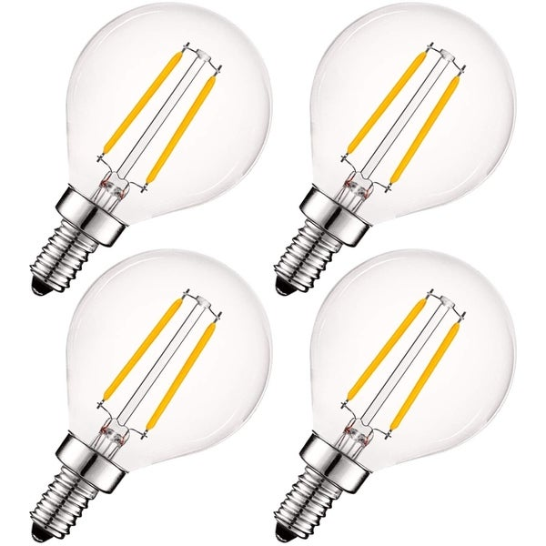 Shop Luxrite 4w Vintage G16 5 Led Globe Light Bulbs