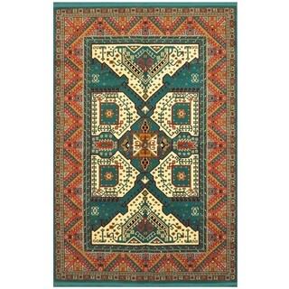 Handmade Traditional Kazak Rug (Turkey) - 6'6 x 10'