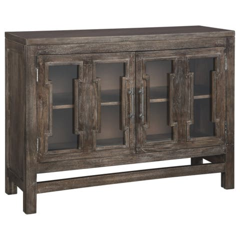 The Gray Barn Willow Way Brown Traditional Accent Cabinet