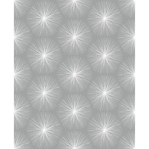 Fire Circle Grey Wallpaper