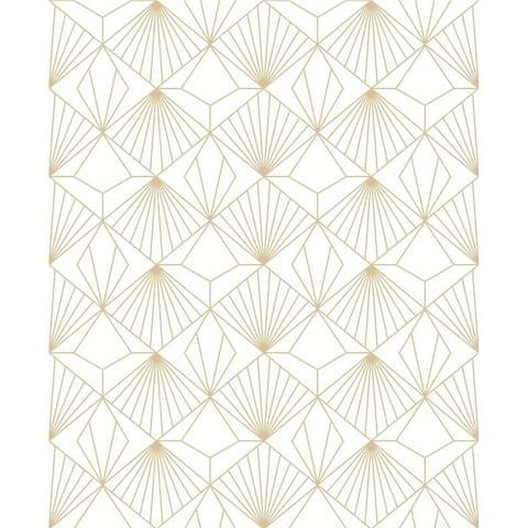 Diamond White and Gold Wallpaper