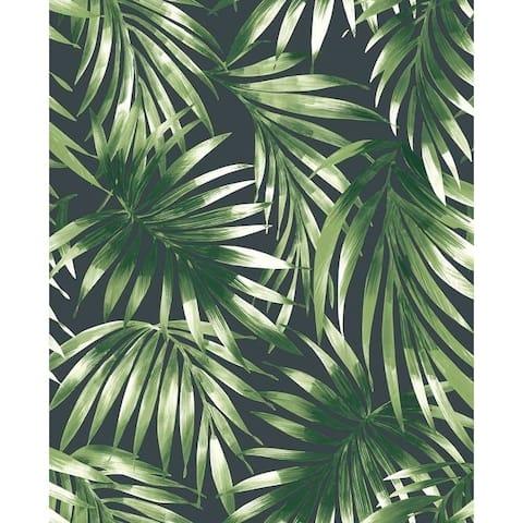 Elegant Leaves Green Wallpaper