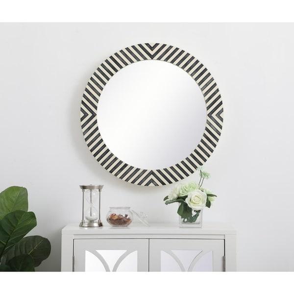 Round Chevron Mirror