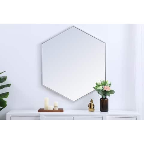 Carson Carrington Salsendi Metal Frame Hexagon Mirror