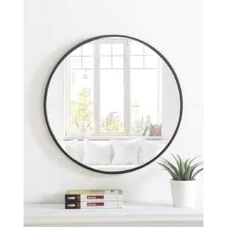 Metal Frame Round Mirror